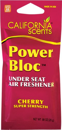 (California Scents Power Bloc Under the Seat Long Lasting Air Freshener, Cherry)