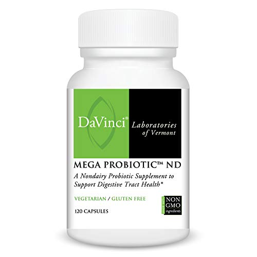 Labs Da Vinci - Davinci Laboratories - Mega Probiotic ND, Non-Dairy Digestive Health Supplement, 120 ct.