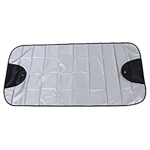 Car Windscreen Cover - SODIAL(R)Car Windscreen Cover Winter Anti Snow Frost Ice Shield Dust Protector Sun Shade Silver&Black