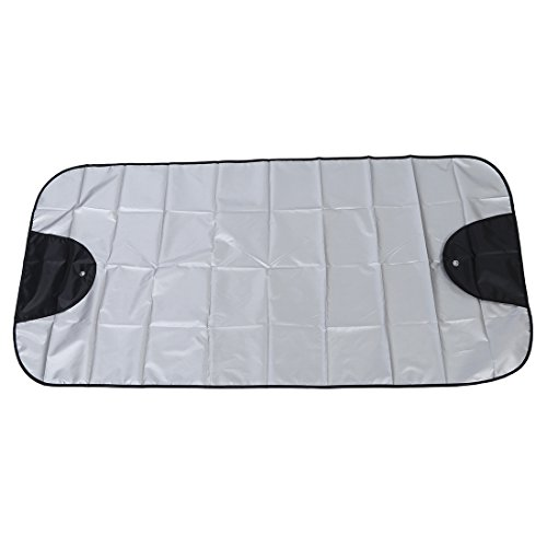 Car Windscreen Cover - SODIAL(R)Car Windscreen Cover Winter Anti Snow Frost Ice Shield Dust Protector Sun Shade Silver&Black