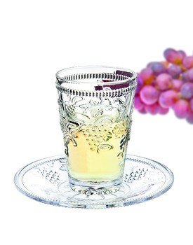 Crystal Kiddush Cup and Saucer ()