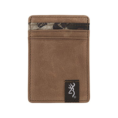 Browning Men's Wallet Front Pocket Camo (Billfold Signature Leather)