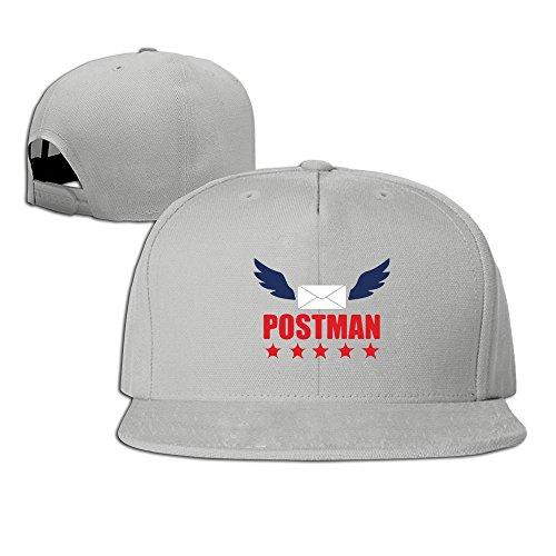 Ultrasoft Wing (Vintage 100% Cotton Hat Men Women Postman Mail Custom Adjustable Cap Ash)