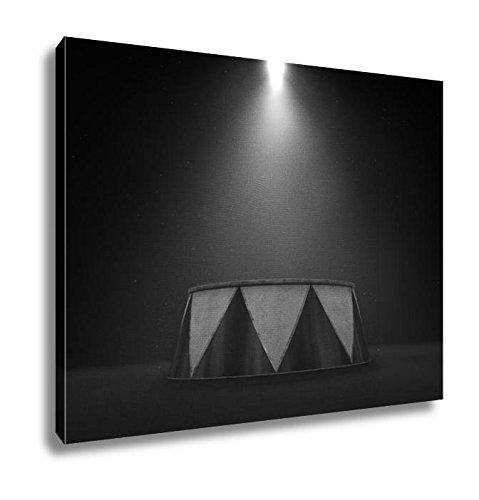 Ashley Canvas Circus Podium Spotlit, Kitchen Bedroom Living Room Art, Black/White 24x30, (Classic Style Podium)