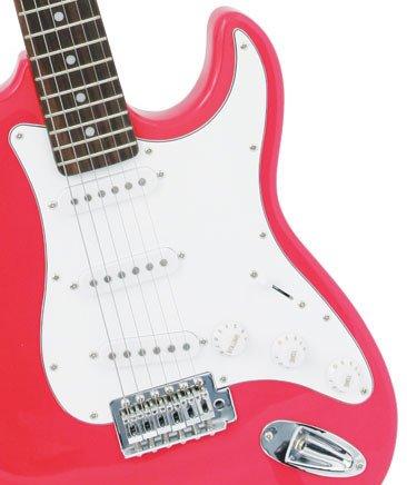 Crescent EG-PK 39″ Electric Guitar Starter Package – Pink Color (Includes Bonus CrescentTM Digital E-Tuner)