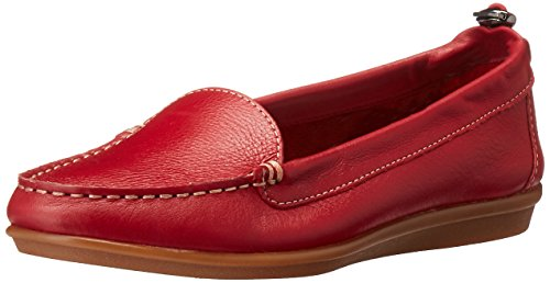 Hush Puppies Women's Endless Wink Flat, Red Leather, 8 W US by Hush Puppies