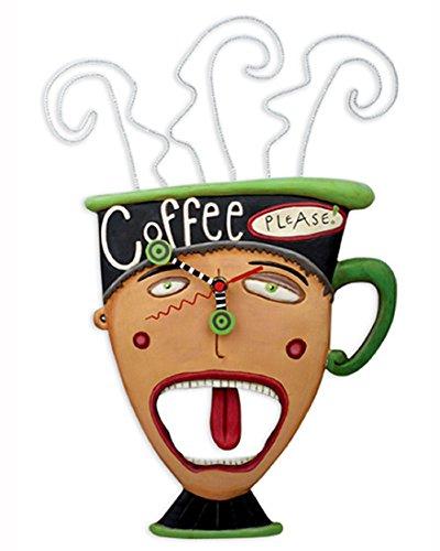 Allen Designs Coffee Please Swinging Pendulum Clock