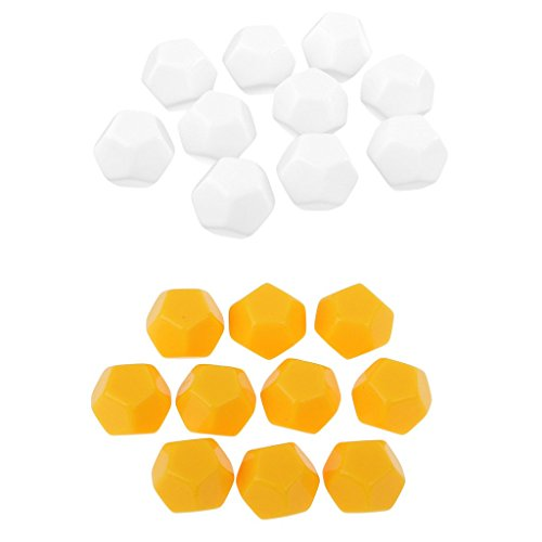 Homyl 20x Polyhedral Dice D12 Set for Dungeons&Dragons RPG MTG Board Game Parts by Homyl