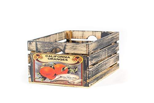 - At Home On Main Handmade Rustic Wood Fruit Vegetable Crate (California Oranges)