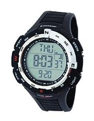 Dunlop Diviner Men's Quartz Watch with Black Dial Digital Display and Black Plastic Strap DUN-226-G01