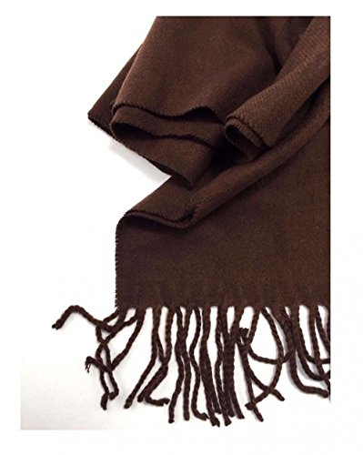 Brown_(US Seller)Scarves SOLID Scotland Wool Warm THICK WINTER Scarf
