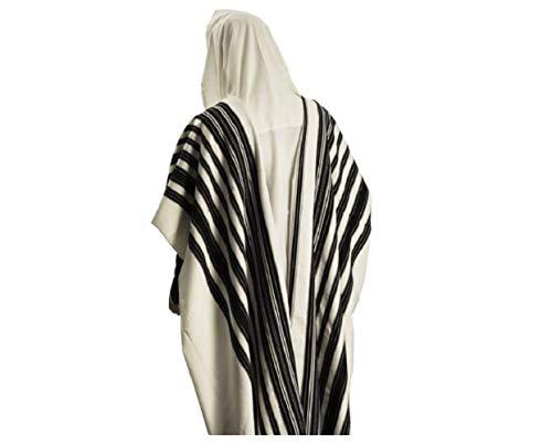 100% Wool Tallit Prayer Shawl Model CHABAD Size 46'' L X 67'' W 50-H by Talitania (Image #9)