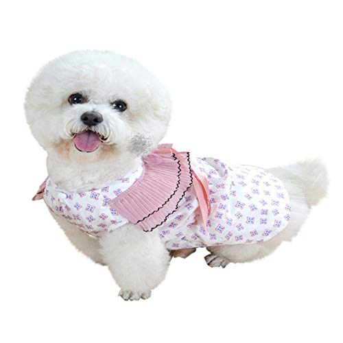 Cherry 466 - Pet Clothes,Pet Skirt Apparel New pet Spring Summer Breathable Cherry Print Skirt Clothing pet Dog Skirt Stylish and Comfortable