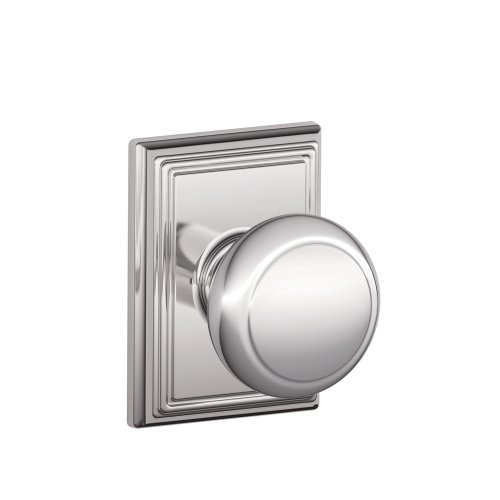 Schlage F10AND625ADD Addison Collection Andover Passage Knob, Bright Chrome