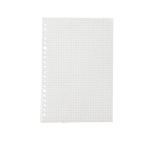 JUNDA Refill Papers,A5 Size 20 Holes Grid Creamy White Paper for Loose Leaf Binder Notebook,60 Sheets/Set,3 Sets by JUNDA