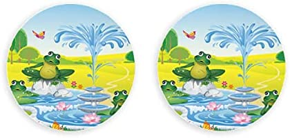 Vector paisaje dibujos animados fuente ranas pared abridor de botellas 2 piezas sacacorchos abridor de botellas nevera