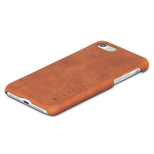 (iPhone 8 Leather Case / iPhone 7 Leather Case Back Cover Brown - KANVASA