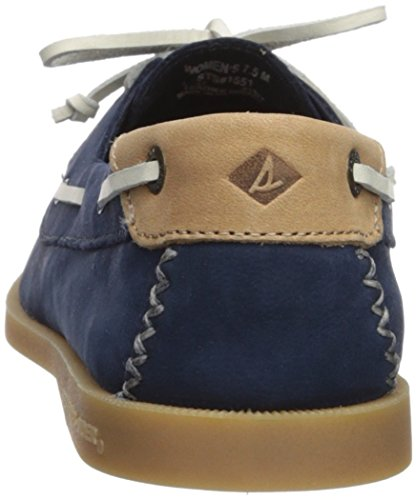 Us o Shoe Venice Women's A Boat Leather Sperry Medium 12 Navy wYqvE7OY