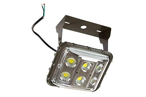 60 Watt Low Canopy LED Low Bay Light with Glare Shield - Low Bay Fixture