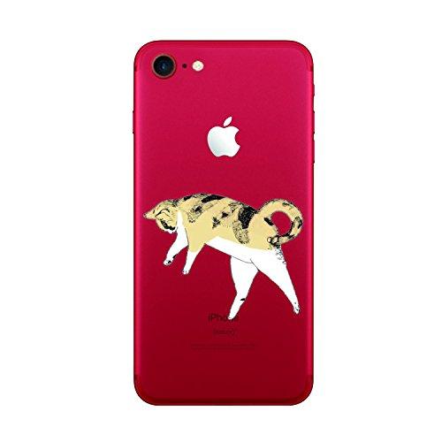 Funda iPhone 6/6S Vanki® Silicona TPU Carcasa Transparente Soft Case Cover Funda Blanda Flexible Carcasa Delgado Caja Anti Rasguños Anti Choque con para iPhone 6/6S-Coronas y diseños animales 2