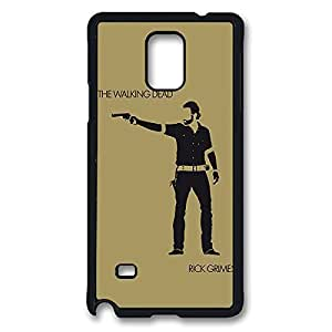 Fashionable The Walking Dead Daryl Dixon DIY Design Printed Protective Hard Case Cover for Samsung Galaxy Note 4 - One Piece Back Case Shell Black 022703 hjbrhga1544