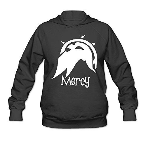 Overwatch Women's Mercy Hoodies Sweater Size XL Black ()