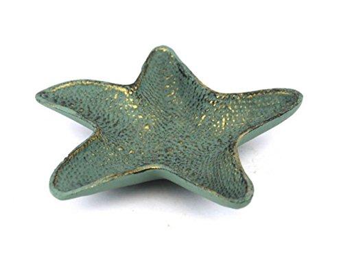 "Hampton Nautical  Cast Iron Starfish Decorative Bowl, 8"", Antique Bronze"