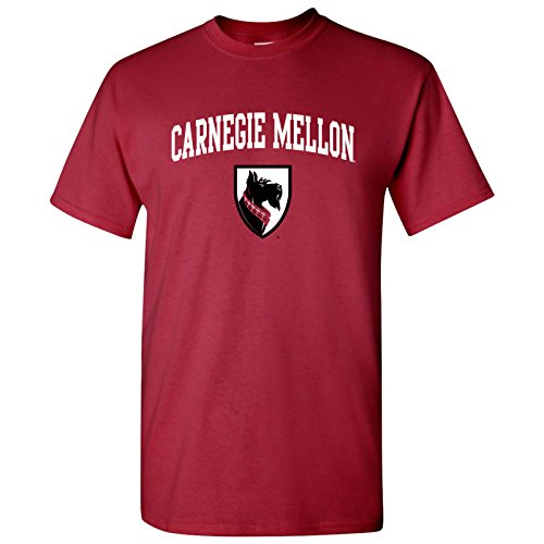 Plaid Logo Shirt - AS03 - Carnegie Mellon University Tartans Arch Logo T-Shirt - Small - Cardinal