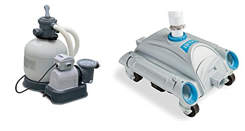 Ground Pool Sand Filter Pump and Automatic Pool Vacuum ()