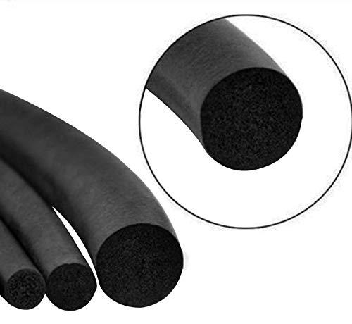 12mm Diameter 20 Feet Long EPDM Sponge Rubber Round Seal Strip