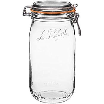 Sold as Singles or in Packs 1.5 Litre Le Parfait Clip Top Jars