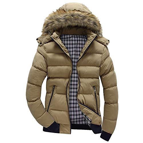 Men Casual Outwear,Chaofanjiancai Boys Warm Hooded Winter Zipper Coat Outwear Jacket Top Blouse