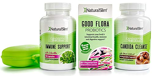 NaturalSlim Candida Albicans Treatment, Formulated by Award Winning Metabolism and Weight Loss Specialist- Full Detox and Cleanse of Fungus for Health and Weight Loss Aid