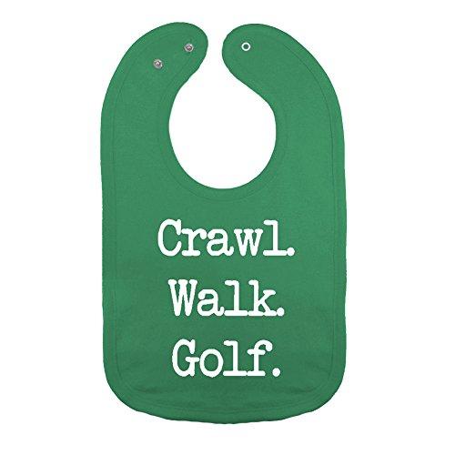 Cotton Golf Bib - We Match! Unisex-Baby - Crawl Walk Golf Thick PREMIUM 2-Ply Cotton Baby Bib With Snaps (Kelly)