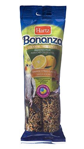 Hartz Bonanza Cockatiel Bird Treat Sticks - 4 - Sticks Citrus Treat