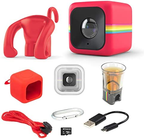 Polaroid Cube Act II HD 1080p Mountable Weather-Resistant Lifestyle Action Video Camera 6MP Still Camera w Image Stabilization, Sound Recording, Low Light Capability Other Updated Features