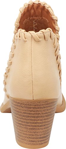 Ankle Heel Block Pu Select Chunky Cutout Cowboy Whipstitch Cambridge Beige Bootie V Women's Western Stacked Pf4WHq