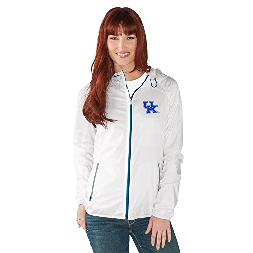NCAA Damen Spring Training Leichtes Full Zip Jacke, Damen, G34Her Spring Training Light Weight Jacket, weiß, X-Large
