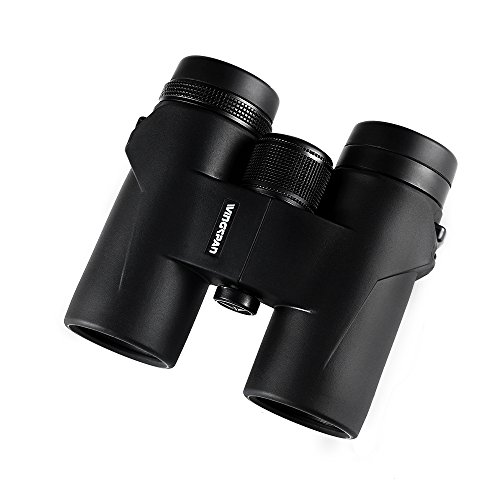 Wingspan Optics FeatherView HD 8X32 Compact Birding Binoculars. Compact Binoculars for Bird Watching on The Go. Extra-Wide Field of View. Close Focus for Viewing Up Close. Waterproof. Fogproof