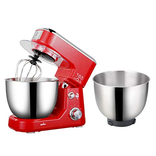 Stand Mixer, Kitchen Multi-function Stainless Steel Eggbeater, 600W 220V Desktop Electric Household Cream Mixer (Color : Red2, Size : 3321.528cm)