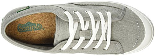 Simple Damen Satire Sneakers Grau (Charcoal 029)