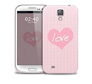 love pattern pink Samsung Galaxy S4 GS4 protective phone case