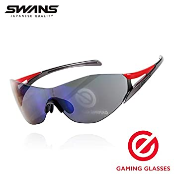 Image of Blue Light Blocking Glasses ELECOM -Japan Brand- Co-Developed (with Programmer Swans) Gaming・PC Glasses, Cut Off The Blue Light by 87%, Clear Gray Lenses, Eye Strain Relief, Black