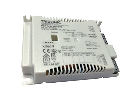 10 Pack of Tridonic PCA 1x55w T5c ECO II High Frequency Electronic DSI/DALI Dimmable Ballast - Runs 1 x 55w T5c Circular - 22185124 [EU Specification 220-240v]
