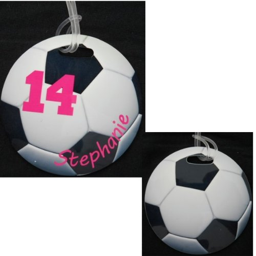 Personalized Soccer Circle bag Tag