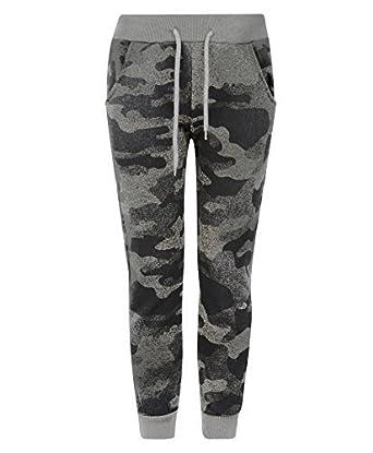 43629ac5d2f3f LotMart Enfants Adolescents Pixel Camouflage Bas survêtement garçon Fille  Jogging Pantalon survêtement - Camouflage Gris,