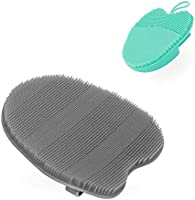 Super Soft Silicone Face Cleanser and Massager Brush Manual Facial Cleansing Brush Handheld Mat Scrubber For Sensitive,...