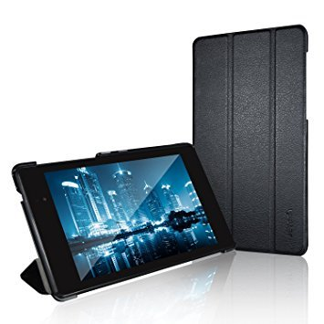 JETech Nexus 7 Case, Slim-Fit Case Cover for Google Nexus 7 2013 Tablet w/Stand and Auto Sleep/Wake Function (Black) (Best Case For Nexus 7 1st Gen)
