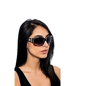 DG Eyewear Fashion Sunglasses For Women - Assorted Styles & Colors (Black, ZB553)