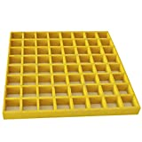 Eco Pultrusions Fiberglass square grating FRP grating FRP Mesh 12''x12''x1'' Yellow